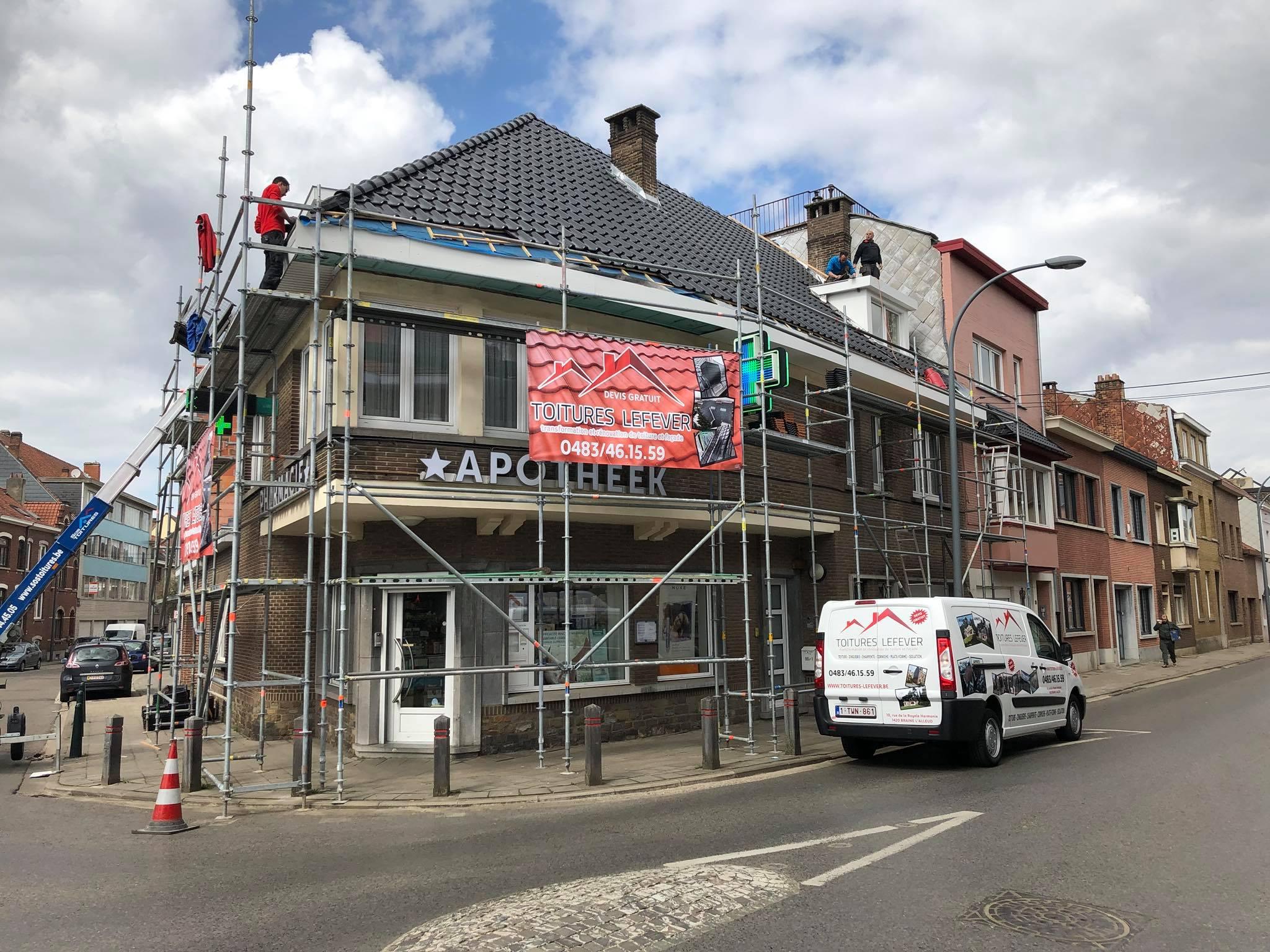 Rénovation toiture Bruxelles
